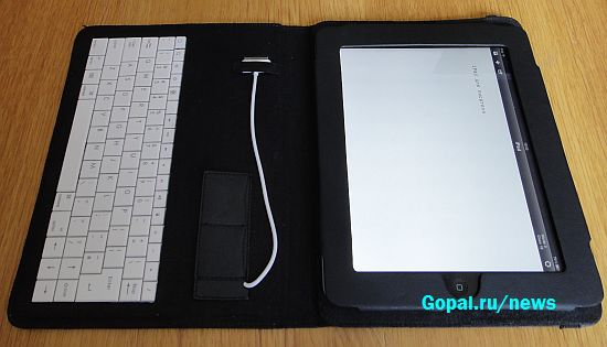Чехол с клавиатурой для iPad в раскрытом положении