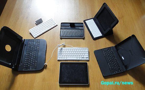 iPad в окружении кандидатов на лучший ввод символов