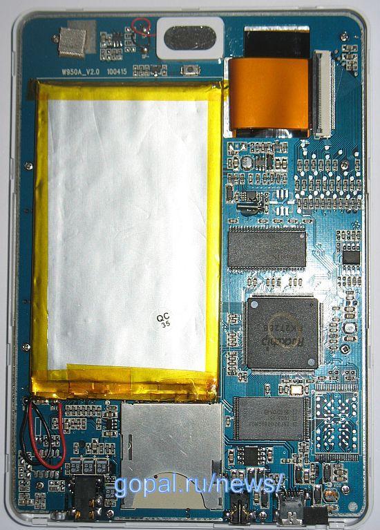 Начинка Teclast K5 - емкий аккамулятор и достойный процессор