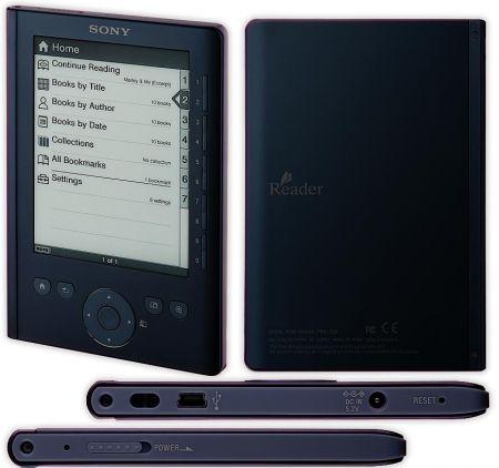 Графическое изображение темно-синего Sony Reader PRS-300