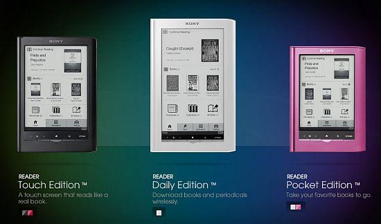 Новые Sony Reader PRS-350, PRS-650, PRS-950